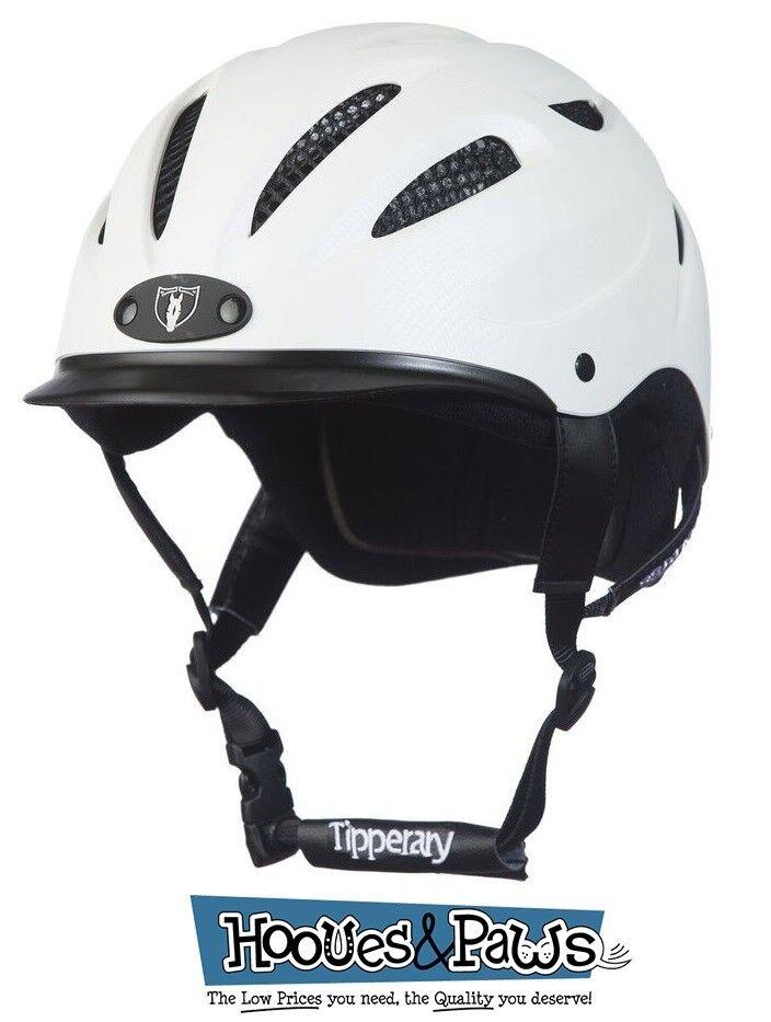 Tipperary Sportage Western Equitación Casco blancoo De Seguridad Caballo de bajo perfil