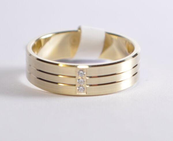 1 Damenring - Verlobungsring - Gold 750 Mit Zirkonia - Breite 5,3mm - Top Preis Hell Und Durchscheinend Im Aussehen