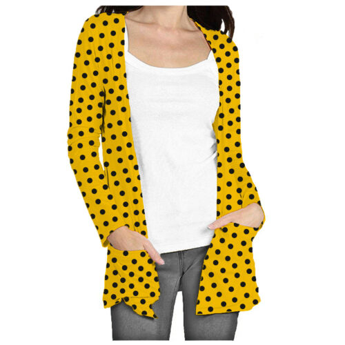 Papaval KCGN Kids Girls Boyfriend Open front Cardigan with Pockets Polka Dot