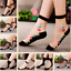 Women-Transparent-Thin-Roses-Flower-Lace-Socks-Crystal-Glass-Silk-Short-Socks miniature 1