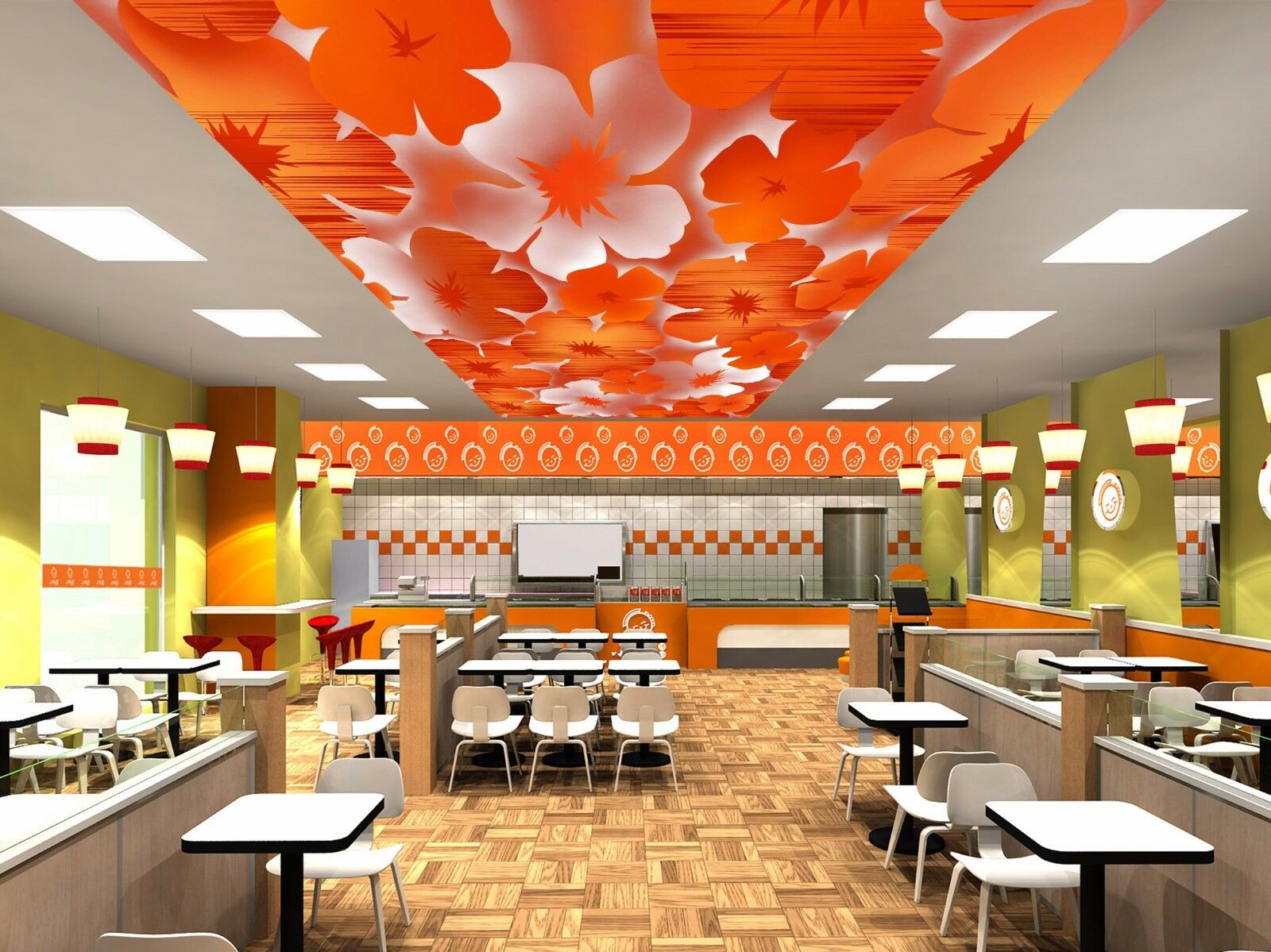3D Orange Petals Ceiling WallPaper Murals Wall Print Decal AJ WALLPAPER US