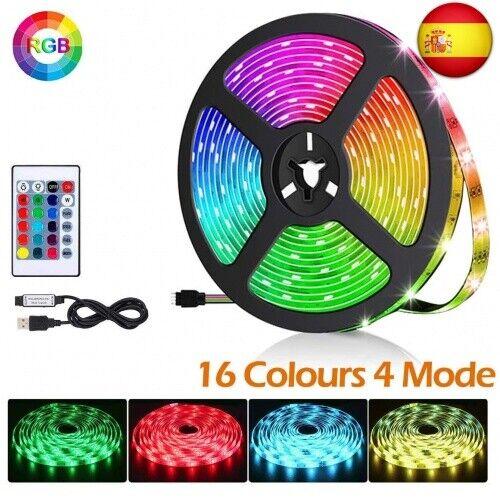 Tira LED de TV, 2M 60 LED 5050 RGB Multicolor Retroiluminación LED Con  (2m)