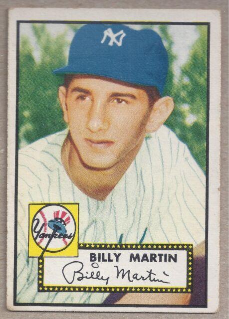 1952 Topps Billy Martin 175 Baseball Card