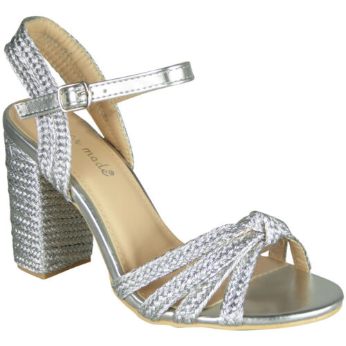 Womens Ladies Party Sandals High Heel Buckle Wedding Bride Going Out Shoes Size