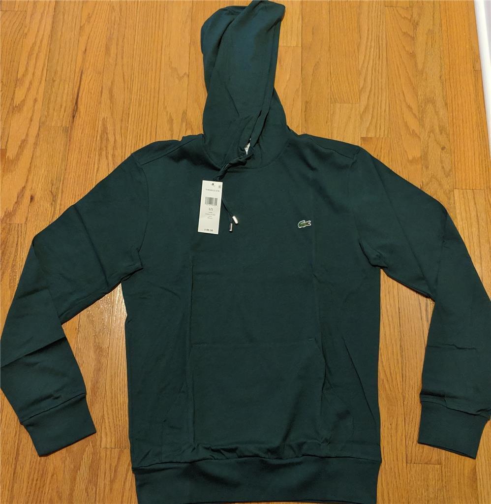 Herren Authentic Lacoste Pullover Lightweight Hoodie/Hooded T-Shirt Grün 6 (XL)
