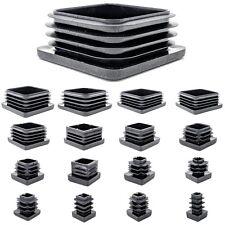 Square Plastic End Caps Blanking Plugs Tube Box Section Insert / BLACK