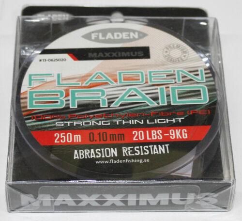 0,06 €//m Maxximus Angelschnur geflochten Polyethylen 13-0625020 schwarz 20lbs