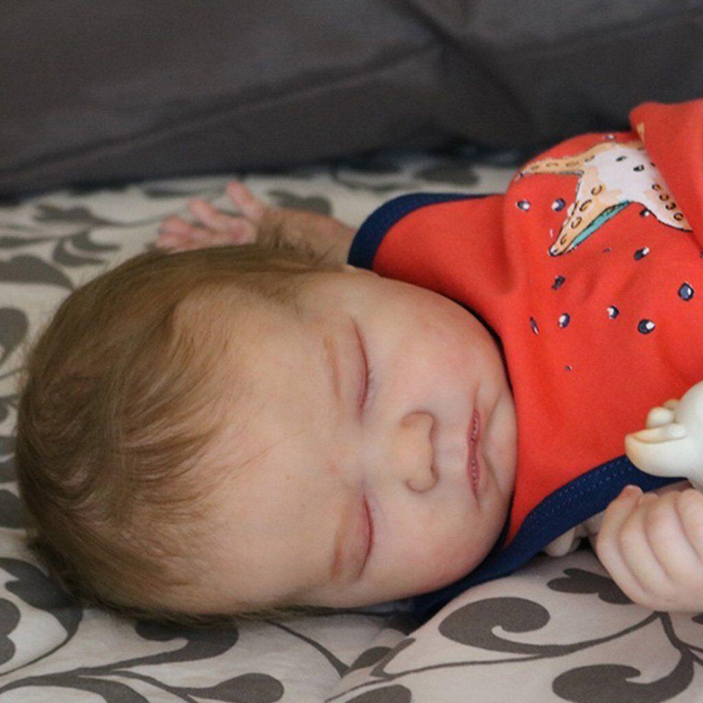 Realborn® Landon Sleeping (21  Reborn Doll Parts Kit) DIY