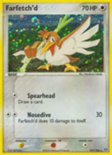 EMERALD-107 R Holofoil Pokemon EX Emerald Card # 107 Farfetch d