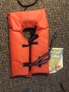Child Kids Life Preserver Water Safety Jacket Orange Small