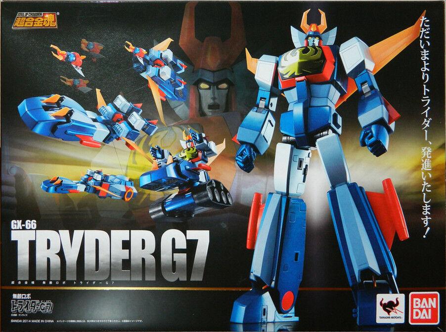 BANDAI TRIDER G7 GX-66 SOUL OF CHOGOKIN SOC DIE-CAST ROBOT TRYDER G 7