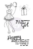 "Prima Julie Nutting - Cling Stamps ""Party Girl"" JUST IN # 910495 Craft Supplies"