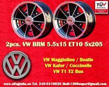 2 Cerchi Lega Volkswagen BRM 5.5x15 Maggiolino Käfer T1 T2 Wheels felgen TUV
