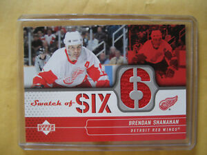 2004-05-04-05-UD-Upper-Deck-Swatch-Of-Six-Brendan-Shanahan-SS-BS-Red-Wings