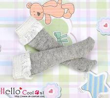 ☆╮Cool Cat╭☆【KS-C03】Blythe/Pullip Lace Top Below Knee Doll Socks # Grey
