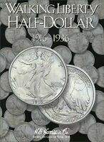 Harris Coin Folder - Walking Liberty Half Dollar 1916 - 1936 Album 2693 -