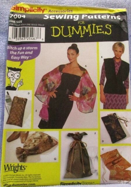 Simplicity 7004 Sewing For Dummies Accessories From Wrights Ebay