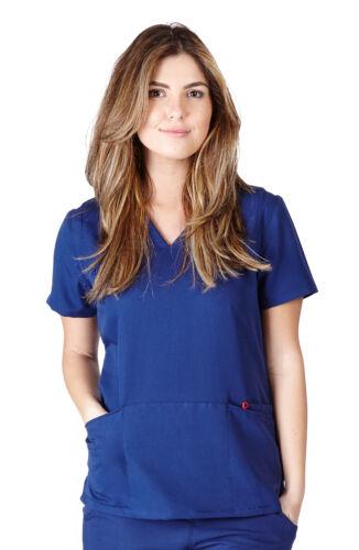 Ultra Soft Medical Nurse Uniform Womens Junior Fit 2 Pocket V-Neck Scrup Top