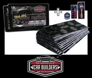 38-75sq-f-Car-Sound-Deadener-insulation-mat-w-install-kit-stop-muffler-noise
