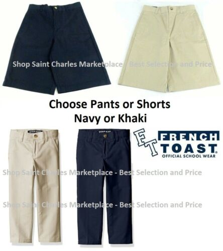 Adjustable Waist Choose Color Size French Toast Boys Uniform Pants and Shorts