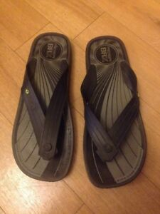 mens-rider-flip-flops-Grey-Black-Sz-9-Eu-43-Summer-Shoes
