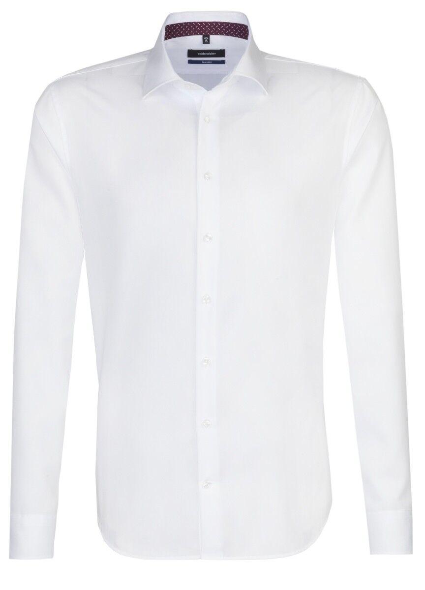 Seidensticker NERA rosa   tailored Uomo Camicia Bianco 01.247216.01
