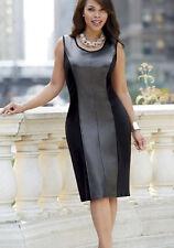 woman's size XXXL Black Faux Leather Broadway Dress by Ashro new