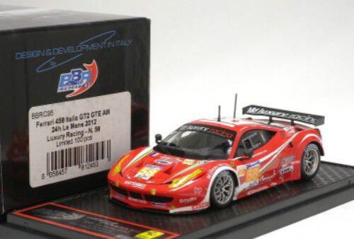 Ferrari 458 Italia GT2 GTE AM 24 H Mans 2012 BBR Model 1 43   BBRC 95