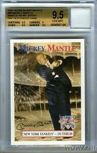 1997-Scoreboard-58-Mickey-Mantle-WORN-YANKEES-JERSEY-BGS-9-5-GEM-MINT