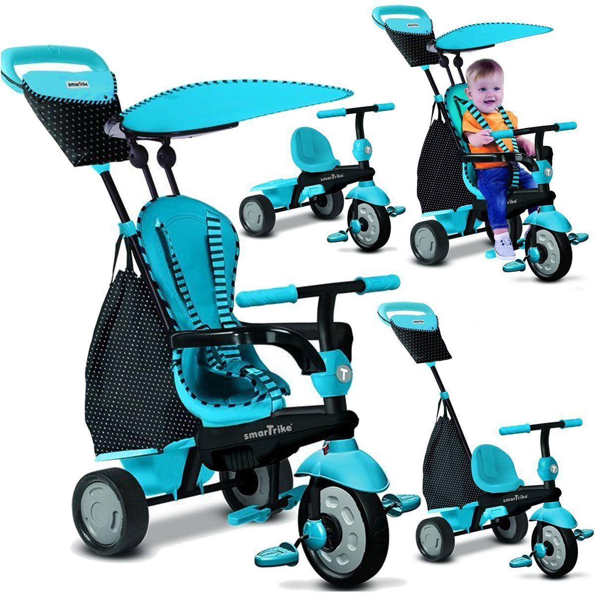 Triciclo azul bebé a partir de 10-36 m. bastidor de metal schubstange con directivo nuevo/en el embalaje original