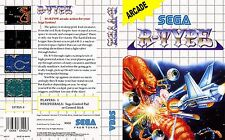 R-Type Sega Master System Replacement Box Art Case Insert Cover Scan