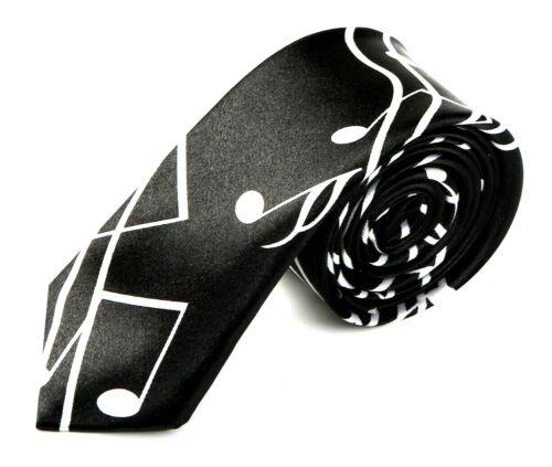 Mince Skinny Cravate avec grande symbolique partition