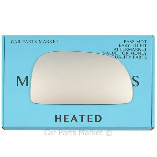 Right Driver side Wing mirror glass for Mitsubishi Colt 1992-2003 Heated