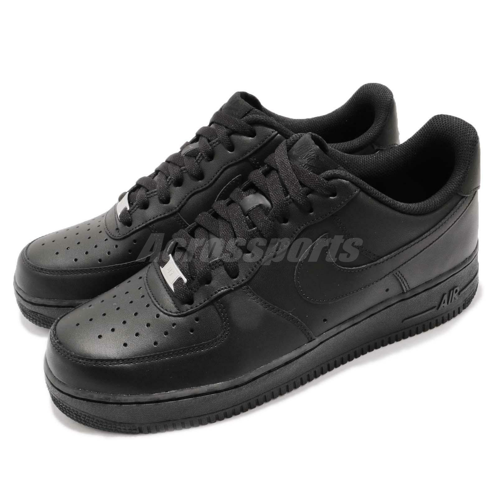 Nike Air Force 1 07 AF1 Triple Noir Hommes Classic Chaussures Sneakers 315122-001