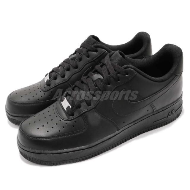 Nike Air Force 1 07 AF1 Triple Black Men Classic Shoes Sneakers 315122 001