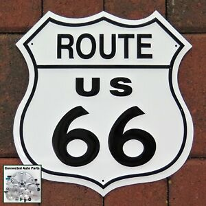 Us Route 66 Tin Sign Man Cave Street Sign Wall Decor Road Highway