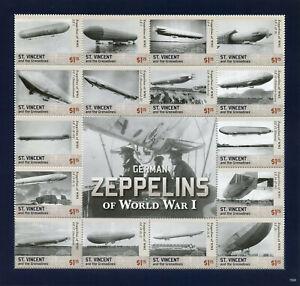 100% De Qualité St Vincent & Grenadines 2015 Neuf Sans Charnière German Zeppelins World War I Wwi 16 V M/s Timbres-afficher Le Titre D'origine Les Couleurs Sont Frappantes