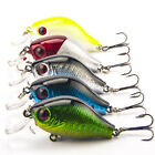 Spinner Fishing Lures Bass Crankbaits Hooks Minnow Baits Tackle 5 Colors Pick