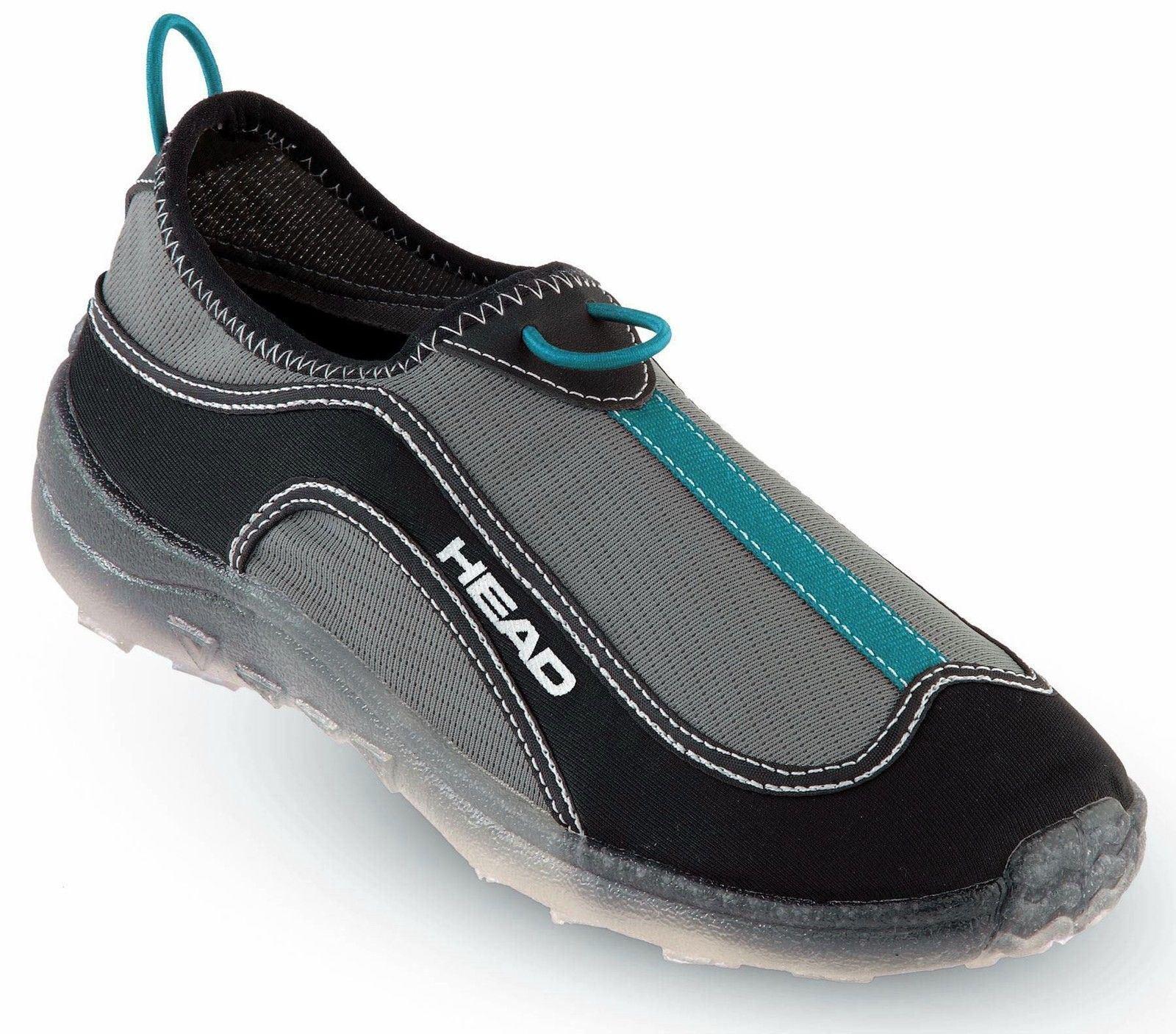 HEAD - Deluxe Fast Drain Aqua Trainer Beach Shoes - Black / Blue - Mens Ladies