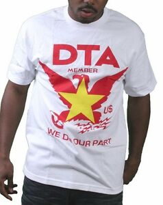 a1ba0098674 Rogue Status DTA Mens White Worldwide Vietnam Flag Crest T-Shirt ...