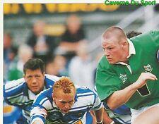 344 MALCOLM O'KELLY LONDON IRISH 1/4  STICKER PREMIER DIVISION RUGBY 1998 PANINI