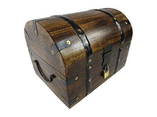 Schatzkiste Holzkiste Holzbox Truhe mit Schloss Holztruhe Schatztruhe