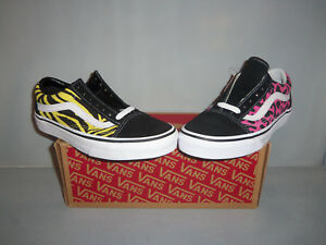 Vans-Old-Skool-Animal-Print-Leopard-Zebra-Skate-Shoes-NIB-Black-Pink-or-Yellow
