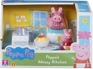 Peppa-Pig-Schmutz-Kueche-Spielset-Kochen-Spielzeug-Figuren-Neu