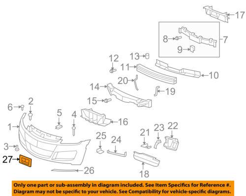 2007-2010 SATURN SKY FRONT LICENSE PLATE HOLDER BRACKET NEW GM # 10364149