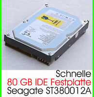 "3,5"" 8,89 CM 80 GB 80GB IDE FESTPLATTE HDD SEAGATE ST380012A SCHNELL 7200U/M F17"