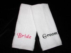 Engraved Wedding Gifts Bride Groom : ... Personalized Wedding Bath Beach Towels Mr & Mrs Bride Groom Bridal