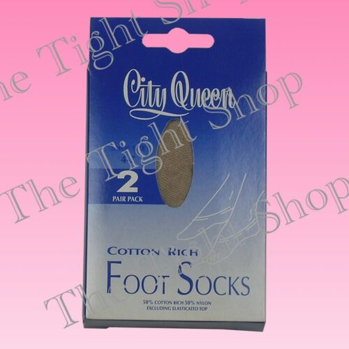 - Clearance 2 Pairs Cotton Rich Foot Socks Shoes 4-7 /& 7-10 City Queen