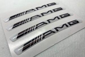 Details Zu 4stck Mercedes Amg 21 22 Felgen Abzeichen Logo 3d Gewölbte Aufkleber Weiß