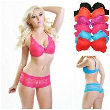 OBSESSIVE Letica Underwired Quarter Cup Bra and Matching Crotchless Thong Set